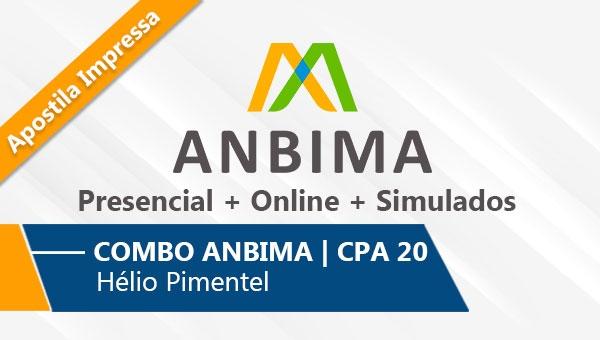 COMBO ANBIMA | CPA 20 - 6 Aulas Presenciais + Online + Simulado | Com Apostila