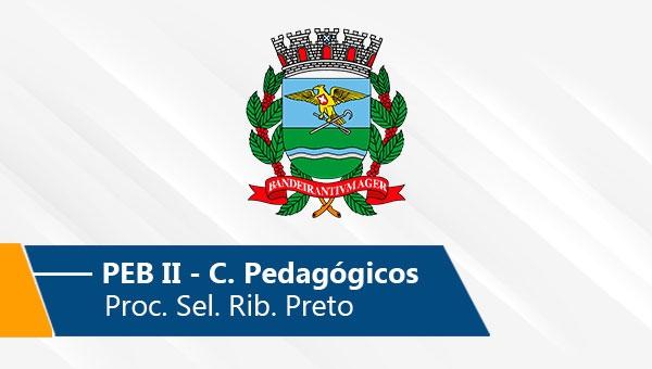 Seletivo de Ribeirão Preto   PEB II (Conh. Pedagógicos) (On-line)